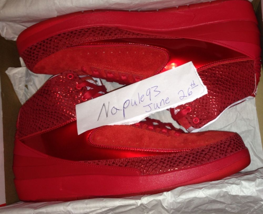 Nike Jordan 2 Legends of The Summer Sample Red Suede Yeezy | eBay