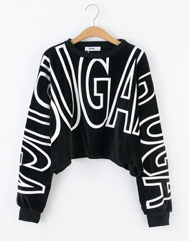 Yubsshop HARAJUKU loose short design long sleeve letter pullover sweatshirt women's-inHoodies & Sweatshirts from Apparel & Accessories on Aliexpress.com