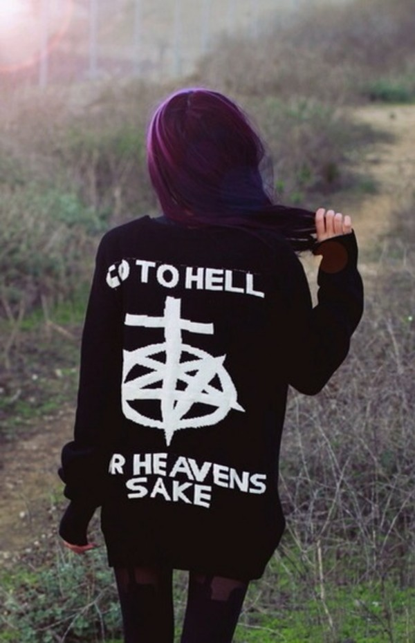 coat bring me the horizon bring me the horizon punk rock metal sweater go to hell for heavens sake sempiternal heaven pentagram
