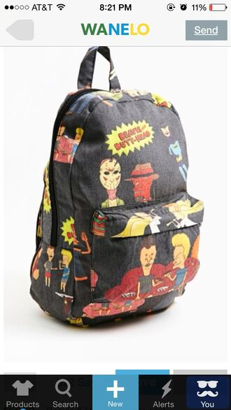 bag backpack back to school beavis and butt-head