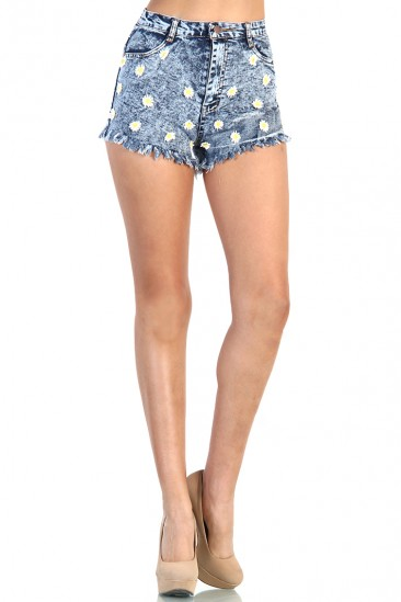 LoveMelrose.com From Harry & Molly | Daisy Shorts - Medium Wash