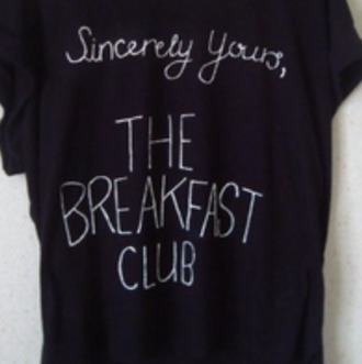 shirt quote on it black shirt the breakfast club movie t-shirt