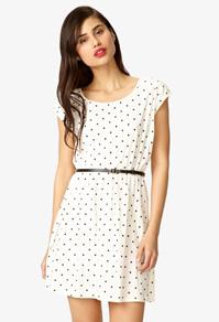Polka Dot Shirt Dress | FOREVER21 - 2054172734