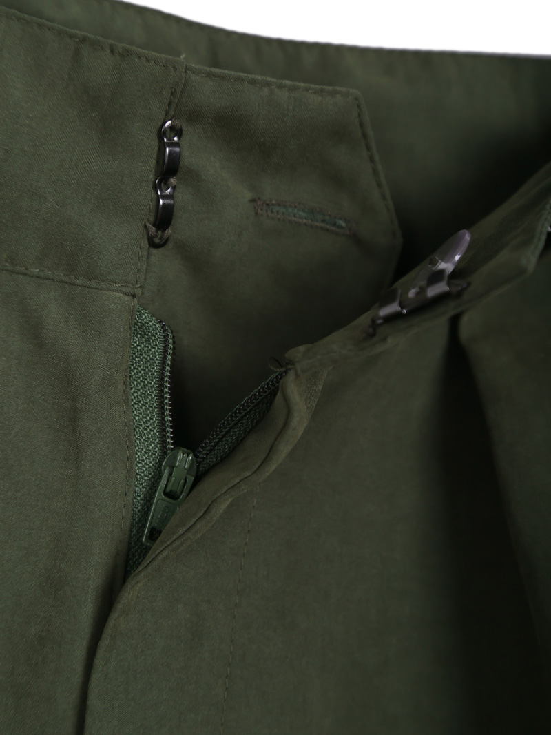 Army Green Loose Casual Pant - Sheinside.com
