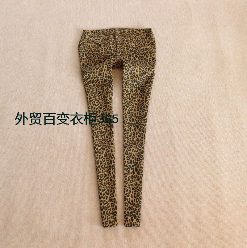 Fashion autumn and winter leopard print boot cut jeans skinny pencil pants female trousers 33-inJeans from Apparel & Accessories on Aliexpress.com