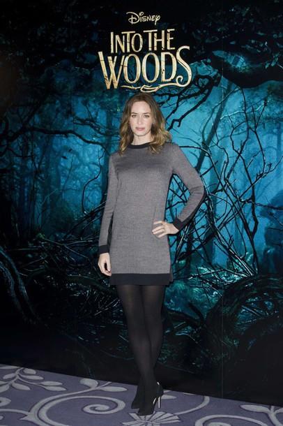 emily blunt winter dress sweater dress