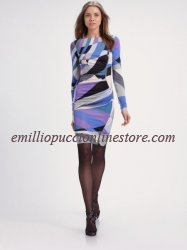 EMILIO PUCCI Blue Ruched Kneelength Dress Cheap [Ruched Kneelength Dress] - $184.99 : Emilio pucci dress sale online outlet,60% off & free shipping!
