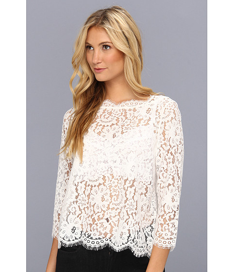 Joie Elvia C Lace Top Porcelain - Zappos.com Free Shipping BOTH Ways