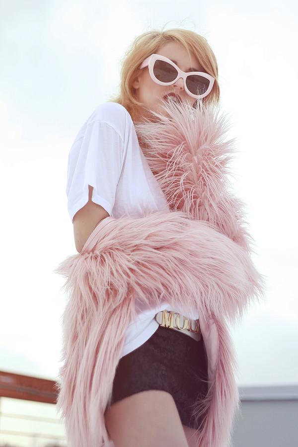 i hate blonde shorts dress jacket sunglasses shoes bag
