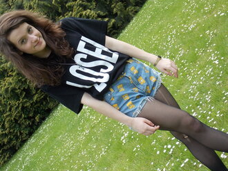 shorts loser fruity happiness choies bart simpson shirt