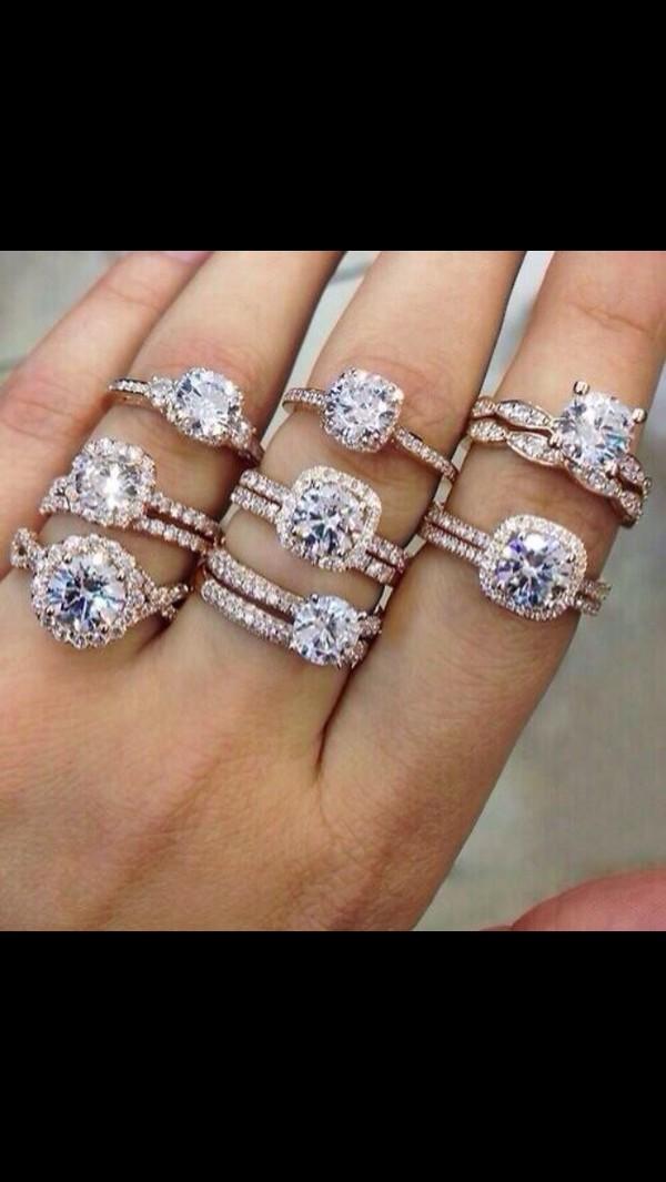 Jewels rose gold ring engagement ring diamonds wedding rings