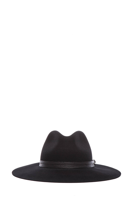 rag & bone|Wide Brim Fedora in Black