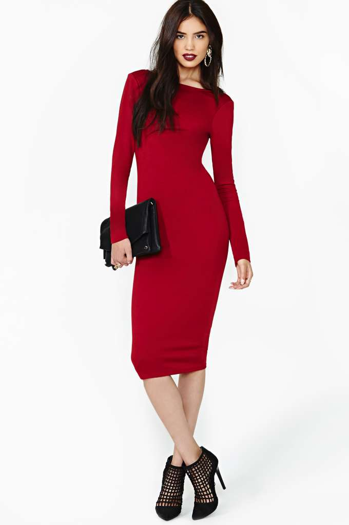 Nasty Gal Heart's Desire Dress in  Clothes Dresses Midi   Maxi at Nasty Gal