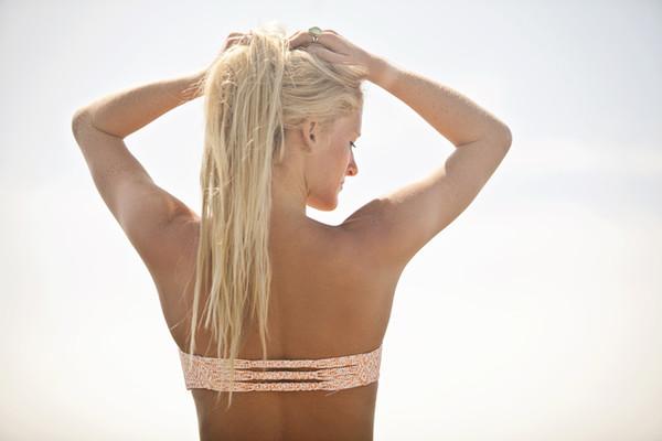 swimwear swimwear bikini bikini top print bandeau bandeau bikini back detail strappy bikini braided crochet crochet bikini