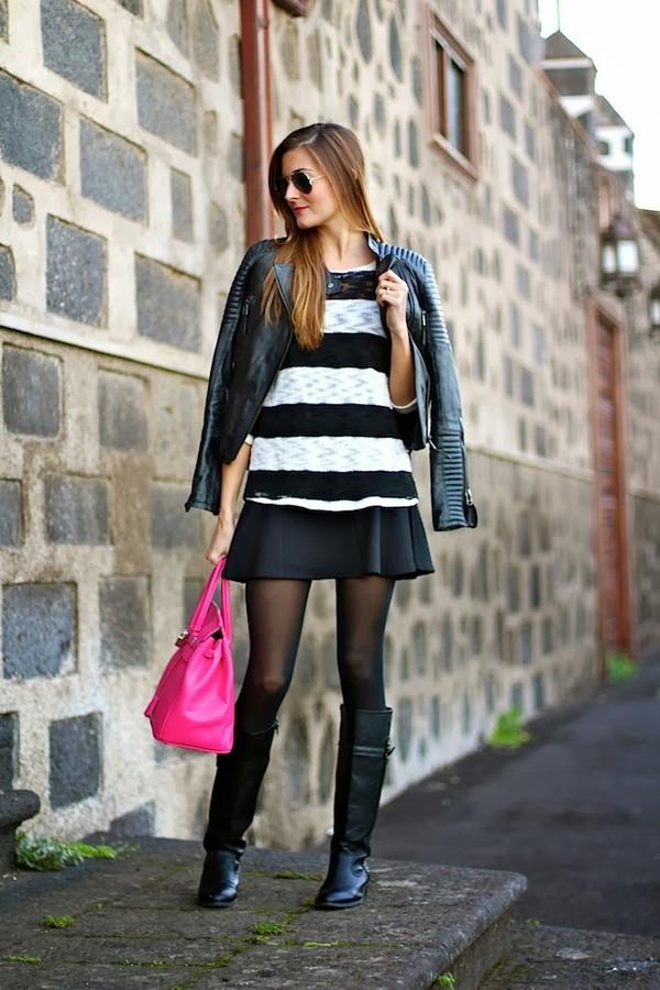 marilyn's closet blog bag sweater skirt shoes jacket
