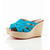 Christian Louboutin Crepon 100mm Wedges Satin Turquoise