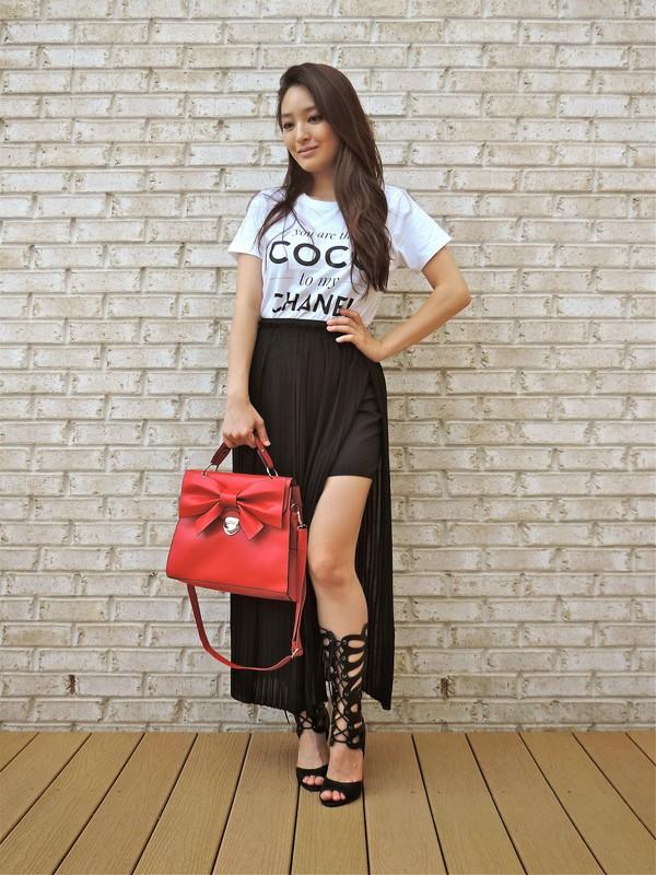 sensible stylista top skirt bag shoes sunglasses