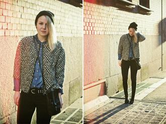 elenita jacket hat shirt belt jeans shoes bag