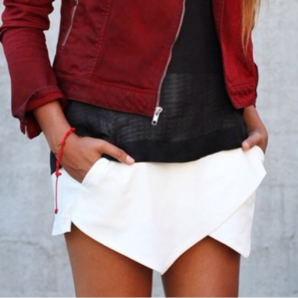shorts jacket edgy