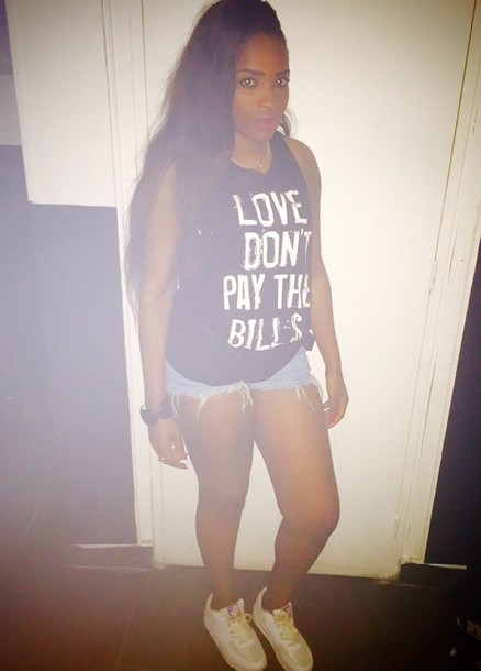 top t-shirt style shorts nike sneakers shoes white black t-shirt swag black tank top forever 21