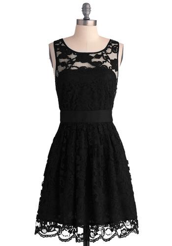 BB Dakota When the Night Comes Dress in Noir   Mod Retro Vintage Dresses   ModCloth.com