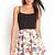 Pleated Floral Skater Skirt | FOREVER21 - 2000083294