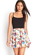 Pleated Floral Skater Skirt   FOREVER21 - 2000083294