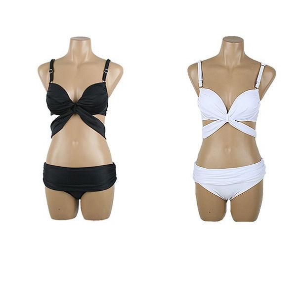 2 Pcs Sexy Women Hot Swimsuit Push Up Cross Padded Bikini Beach Swimwear Suit   eBay
