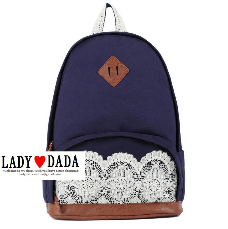 Japan Love Sweet Flower Lace Backpack Vintage School Bag Campus Outdoor Rucksack | eBay