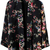 Black Long Sleeve Floral Loose Blouse - Sheinside.com
