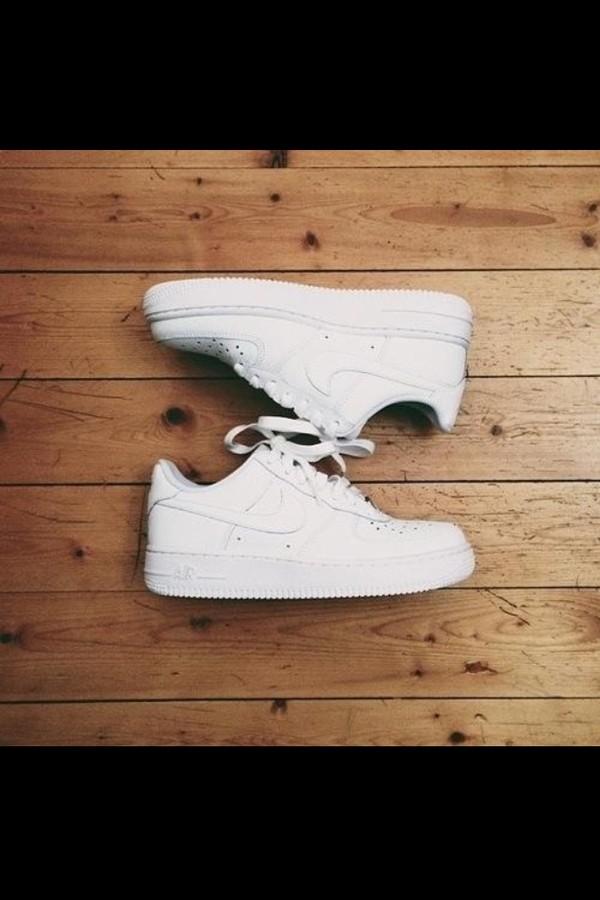 shoes nike nike air force 1 nike air nike sneakers white sneakers white nike air force one