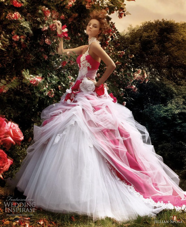 dress ball gown wedding dresses red and white wedding dress tulle wedding dress