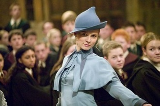 fleur delacour beauxbatons harry potter blue shirt blue hat hat bowler hat clemence poesy blouse t-shirt school uniform magical