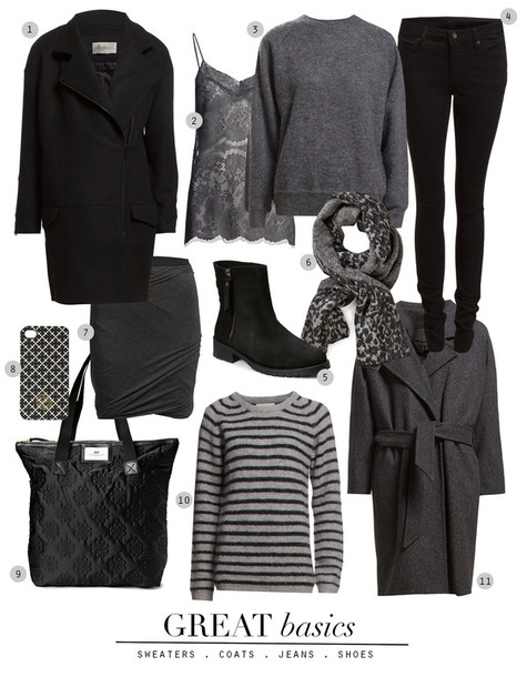 passions for fashion blogger coat top sweater scarf bag winter outfits grey sweater lace top striped sweater grey coat