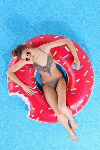 swimwear donut pool pink swimming