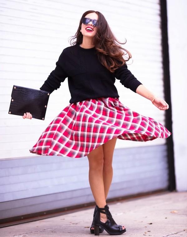 nany's klozet shoes sweater skirt sunglasses bag jewels