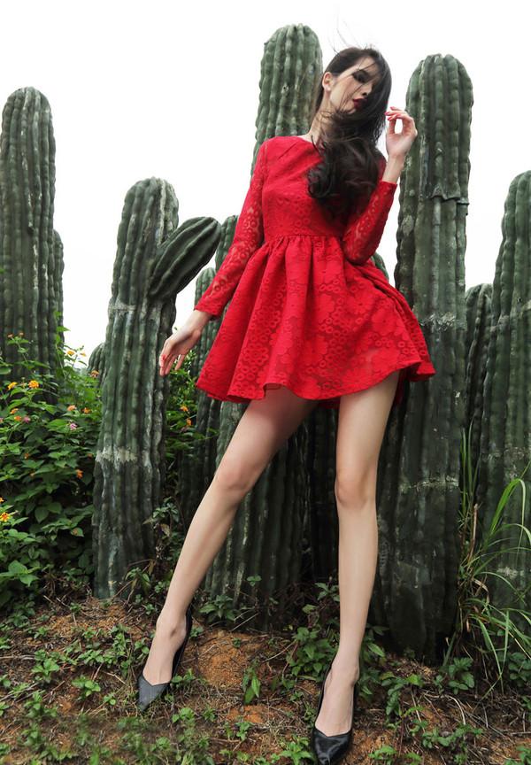 dress lace dress lace red red dress red lace dress short dress sexy dress dress pretty fashion fashion dress