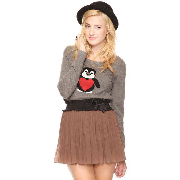 Penguin Sweater - Forever 21 - Polyvore