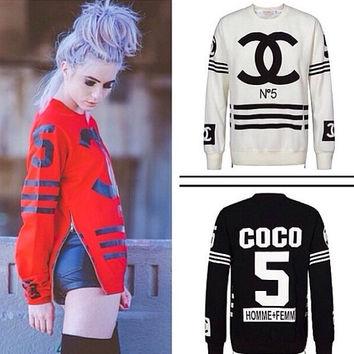 Coco Chanel Luxury N.5 Side Zip Sweater on Wanelo