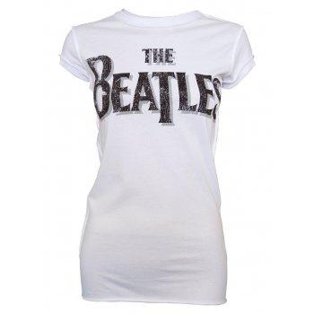 Amplified Ladies Vintage White The Beatles T Shirt, Vintage White - Amplified from Jukupop UK