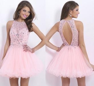 dress pink short dress cute party