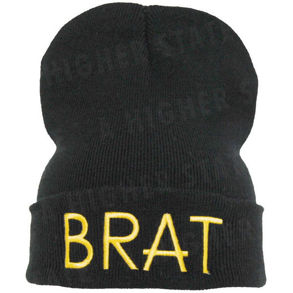 BRAT and ANGEL beanie the best quality on etsy 100% satisfac... - Polyvore