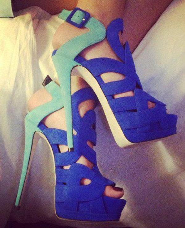 shoes high heels blue beautiful heels bleu talon blue high heels mint blue shoes blue shoes pumps mint shoes