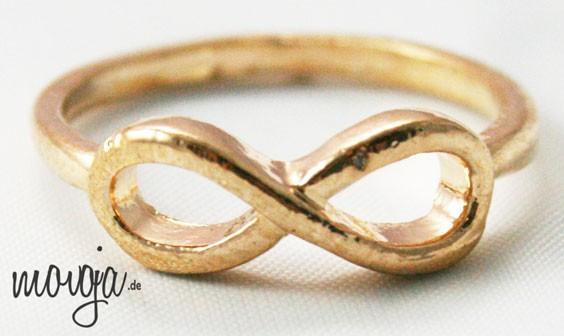 Infinity Ringe Unendlichkeit Eternity Finger Ringe Accessoires / Mode Schmuck