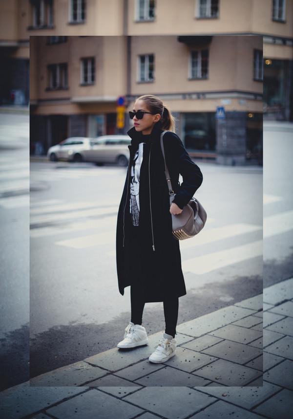 kenza coat sweater shoes bag sunglasses
