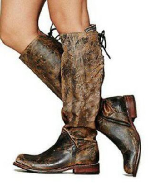 shoes free people destroyed leather tall boots boots