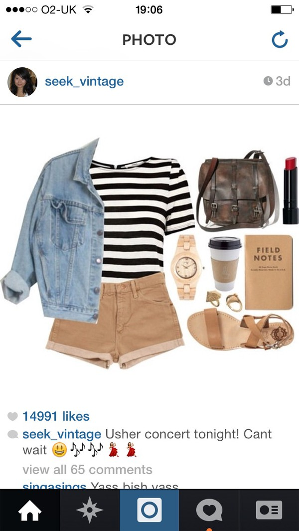 watch coffee bag backpack lipstick sandals shorts cardigan shoes t-shirt