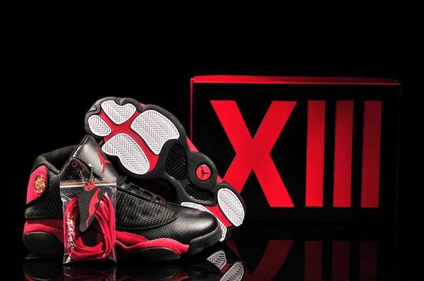 New Womens Air Jordan 13 Black/Varsity Red/White