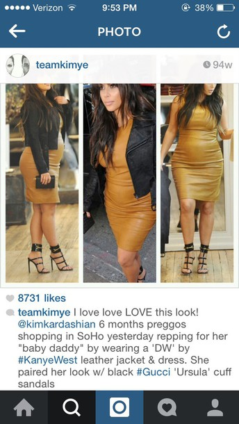 kim kardashian mustard bodycon dress maternity dress