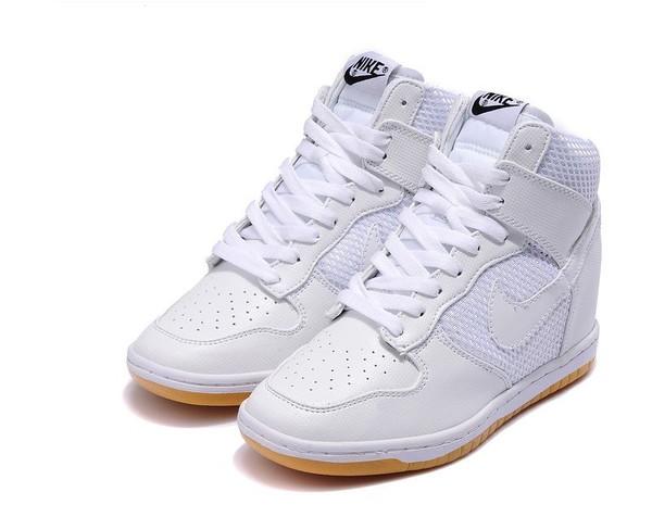 shoes white white shoes nike dunk sky women shoes nike